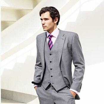 fcca82a15bed Product Offer. Серый костюм Lastest пальто брюки дизайн Свадебный костюм  для мужчин формальный мужской блейзер Красивый смокинг жениха Slim Fit ...