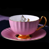 1 Pcs Fashion Hand Painted Ceramic Cup Afternoon Tea Cup Plate Coffee Cup tea cups and saucers Home Decoration 5ZDZ111