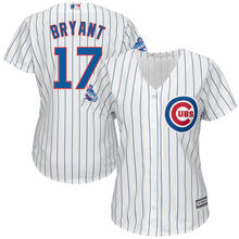 616e280d5 MLB Women s Chicago Cubs Kris Bryant White 2016 World Series Bound Home Cool  Base Player Jersey