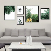 Nordic Hand Painted Oil Painting by Numbers DIY Living Room Green Plant Pineappl Decorative Paints Decompression Gifts