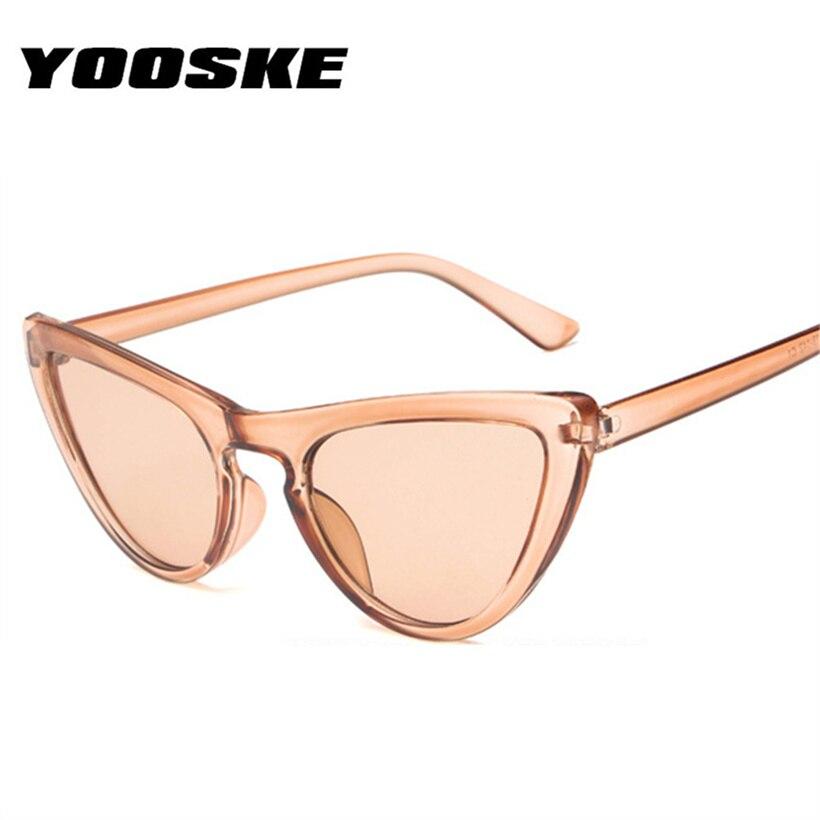 745ef9ab6c Detalle Comentarios Preguntas sobre YOOSKE gafas de sol de ojo de gato para  mujer bonitas gafas de sol de moda Retro triangular gafas de sol Vintage  gafas ...