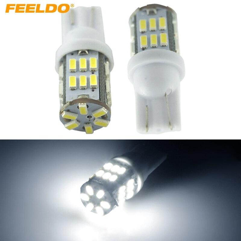Feeldo 2 шт. Белый 3 Вт T10 W5W 3014 чип 30smd CANBUS НЕТ ОШИБОК автомобиля габаритный фонарь/чтение светодиодный свет # am4196 ...
