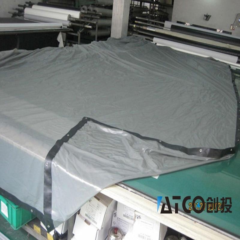 WZATCO de Haute Qualité Grande Taille Écran 280 pouce 16:9 3D Argent Écran De Projection Tissu Avec Oeillets Facile Installer Livraison gratuite
