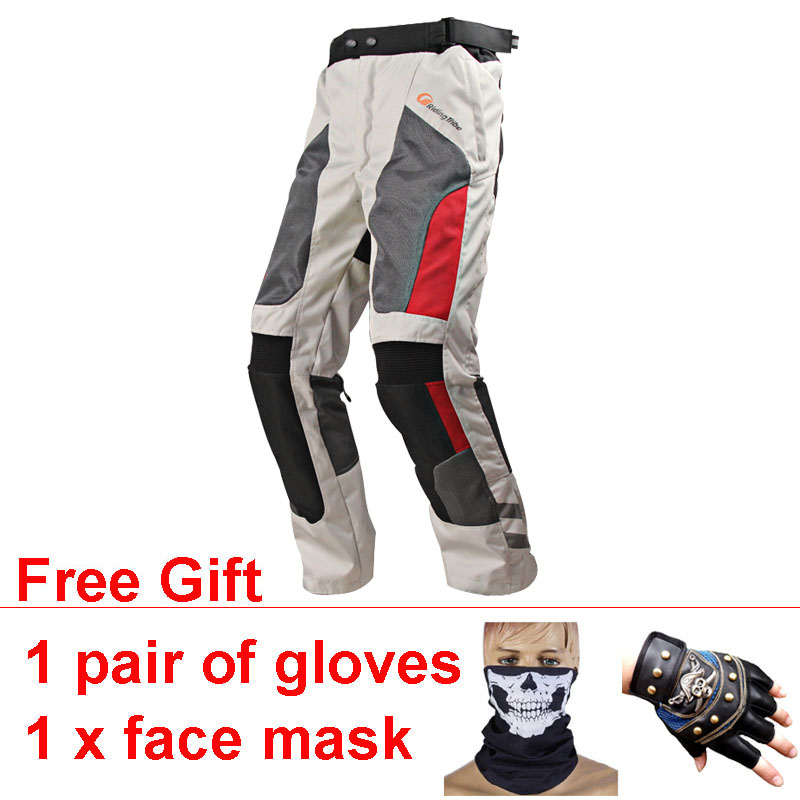 цена на Waterproof Motorcycle Pants Wearable Motocross Trousers Breathable Pantalon Moto Windproof Protective Pad Off-Road Riding Racing
