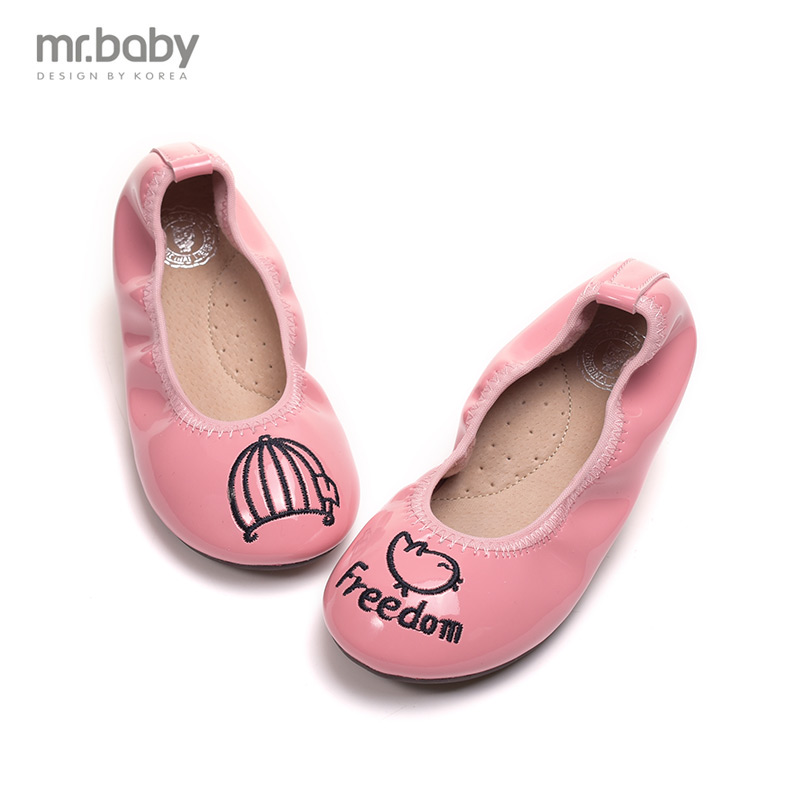 Mr.baby spring new Korean princess shoes retro flower girls shoes children shoes