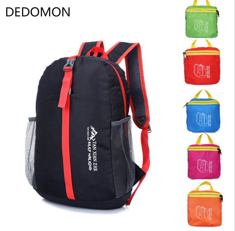 4 Colors Ultralight Foldable Waterproof Backpack Outdoor Hiking Camping Travel Sport PackBag for Men and Women Dropshipping