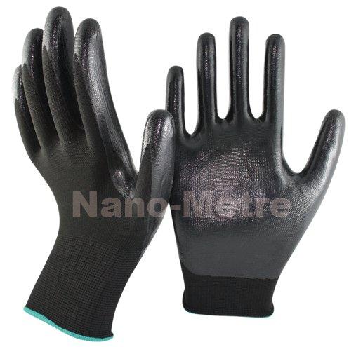 NMSafety 13 gauge nylon nitrile coated gloves/nitrile work glove/Nylon knitted nitrile Palm gloves elegant tie dye sleeveless fitting skater dress for women