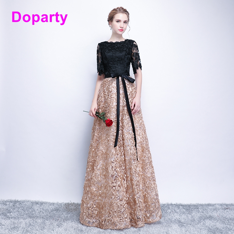 XS4 black elegant long formal special occasion mother of the bride   evening     dress   women engagement prom   dresses   2018 for women