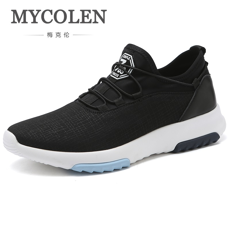 MYCOLEN Hot Sale Men Casual Shoes 2018 New Spring Autumn Breathable Shoes Men Brand Black Casual Men Shoes Heren Schoenen 2017 spring autumn breathable white wild men casual shoes 100% handmade pigskin leather comfort men shoes high quality size40 44