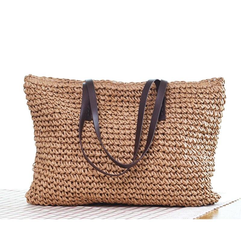 women bag 2018 summer handbag female single shoulder woven bag large capacity package college style bolsos mujer bolso rafia цена