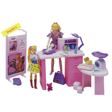 Мебель для кукольного домика, игровой набор для Барби, Центр по уходу за ребенком, с детскими кукольными весами, стетоскоп, медицинские аксессуары для лечения