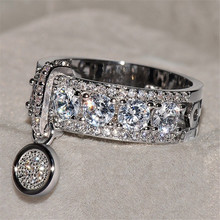 7e73b4f299aa ZORCVENS nueva llegada Vintage rosa de oro anillos de boda para las mujeres  joyería de moda de lujo blanco circón anillo de comp.
