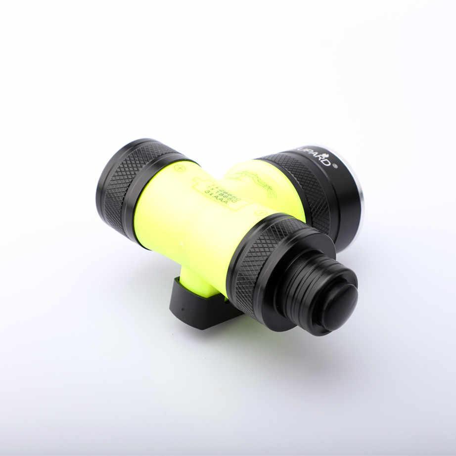 الغوص UV الأرجواني T6 L2 LED تحت الماء مصباح worklight torche للماء الشعلة كشافات للماء ملء ضوء الدراجة العلوي