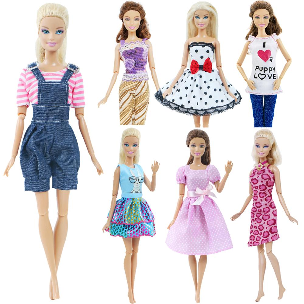 1 X Doll Clothes Fashion Cute Daily Causal Wear Dress Skirt Vest Blouse Pants Shorts For Barbie Doll Accessories Girl Toy