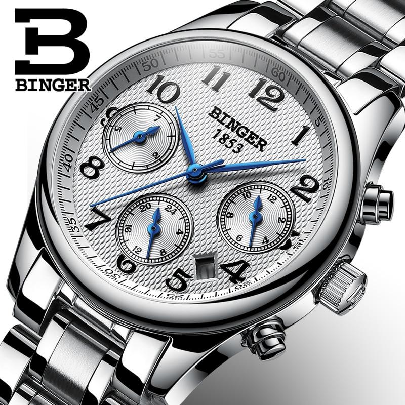 Switzerland BINGER Women Watches Luxury Brand Japan Quartz Movement Watch Waterproof Relogio Feminino Sapphire Clock B