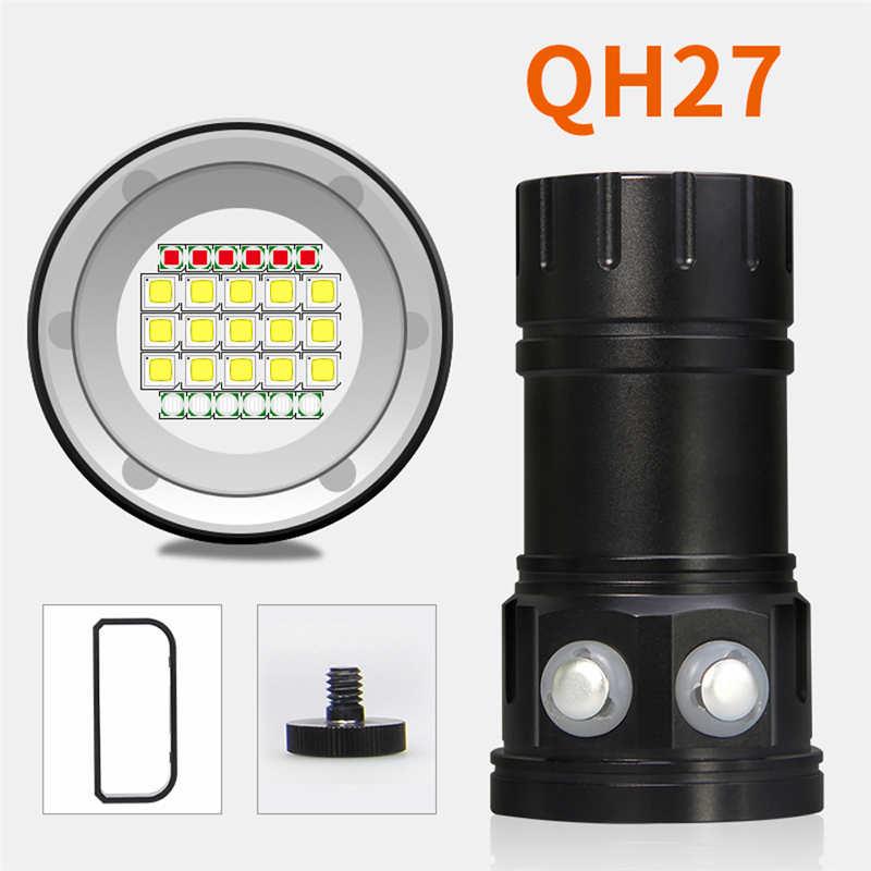 80 m LED lampe de poche de plongée photographie lumière sous-marine puissant lampe de poche LED étanche torche torche lampe de poche 18650 #4S14