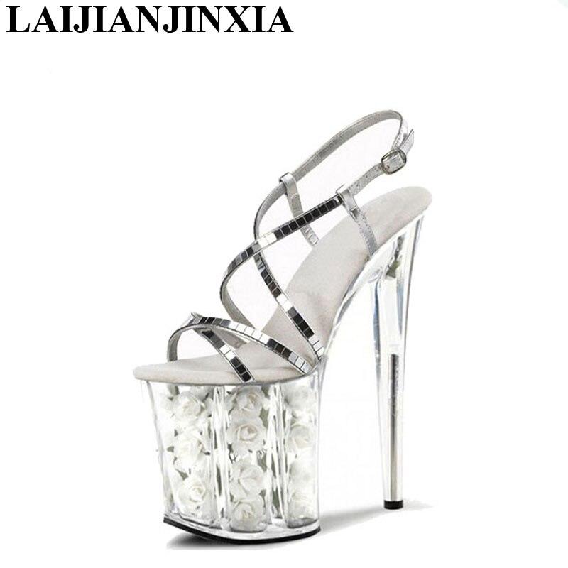 Laijianjinxia Pouce À Lanières Nouveau Chaussures En e177 Haute Sexy 8 Pompes Cristal D'été Clair Talons E152 Sandales Femmes qw0rqt