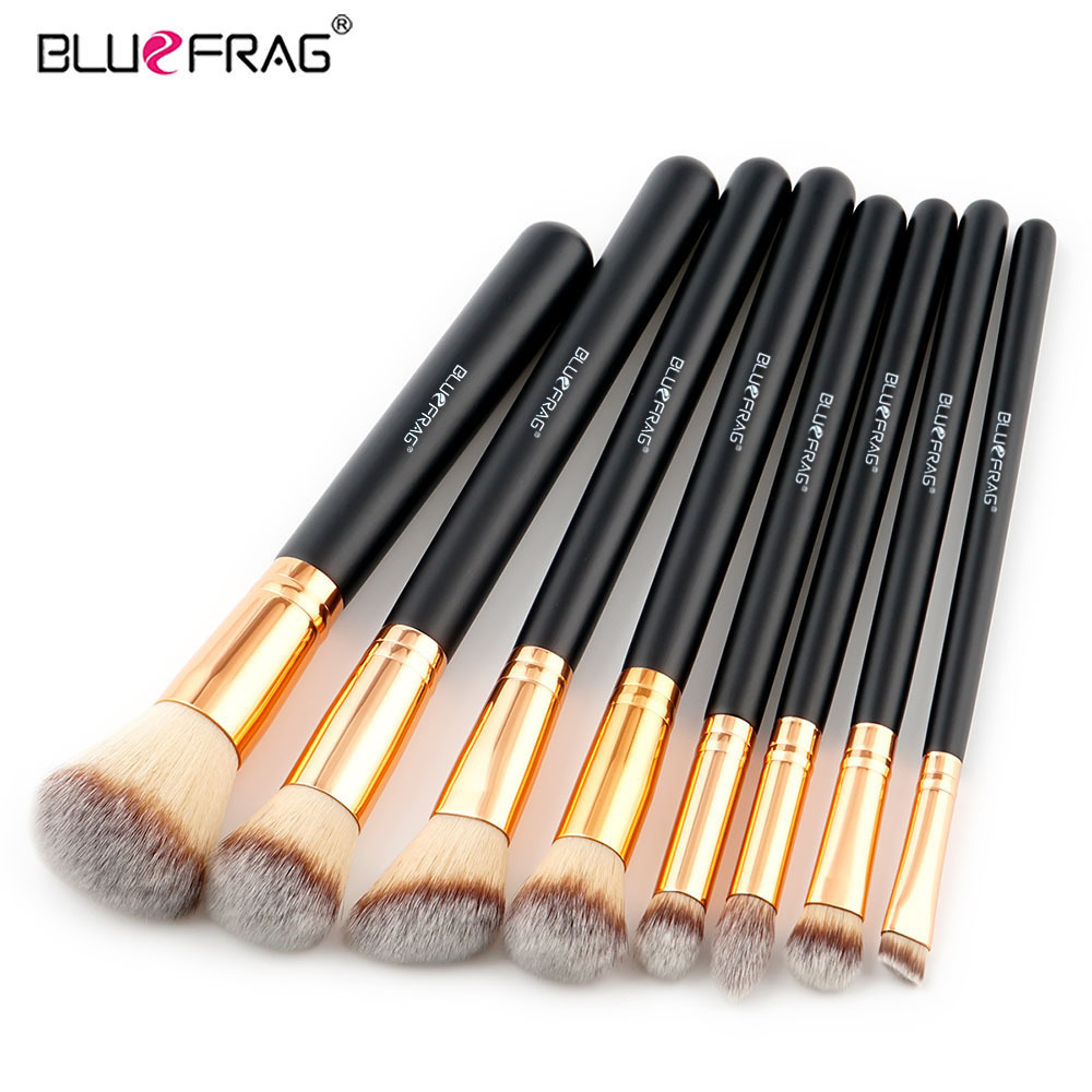 BLUEFRAG 8Pcs Makeup Brushes Set Eye Shadow Concealer Eyeliner Lip Brush Powder Foundation Make Up Brush Kit Beauty Cosmetics 20 pcs set makeup brushes set eye shadow foundation eyeliner eyebrow lip brush cosmetics tools kits beauty make up brush 2017