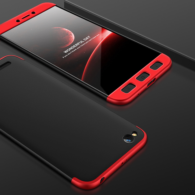reputable site 8e225 cafe7 US $3.64 27% OFF|GKK Chic looking Case for Xiaomi Redmi 5A Case 360 Full  Protection Hard Hybrid PC Three in on Design Matte Cover for redmi 5a-in ...