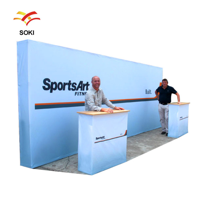 Exhibition Booth Printing : Ft exhibition booth folding advertising back wall