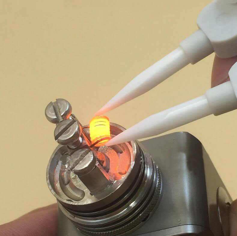 Hot! Antystatyczna ceramiczna pęseta elektroniczny papierosowy drut oporowy narzędzie do majsterkowania żaroodporna wymienna końcówka z końcówką