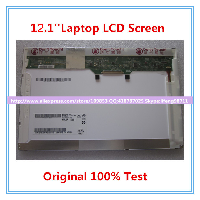 12.1'' Laptop Lcd Screen For IBM Thinkpad X200 X201 X201I B121EW09 V.3 LTN121AT07 LP121WX3 30PIN