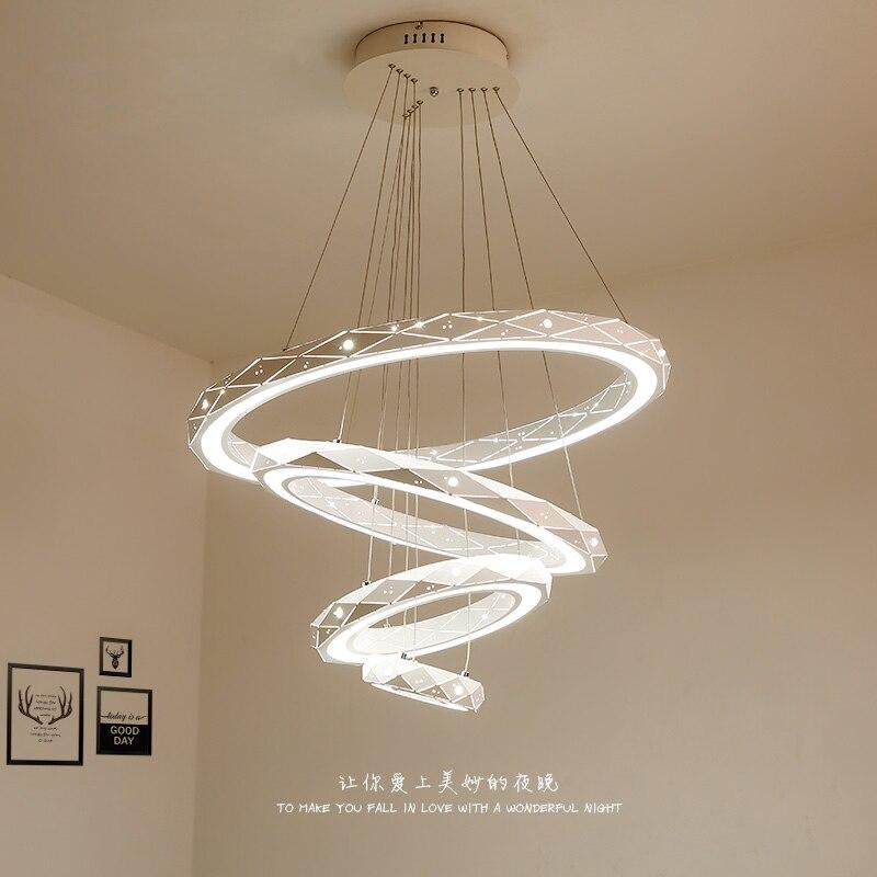 все цены на LED living room suspended lamps Modern dining room chandelier Novelty bedroom lighting fixtures Nordic restaurant hanging lights