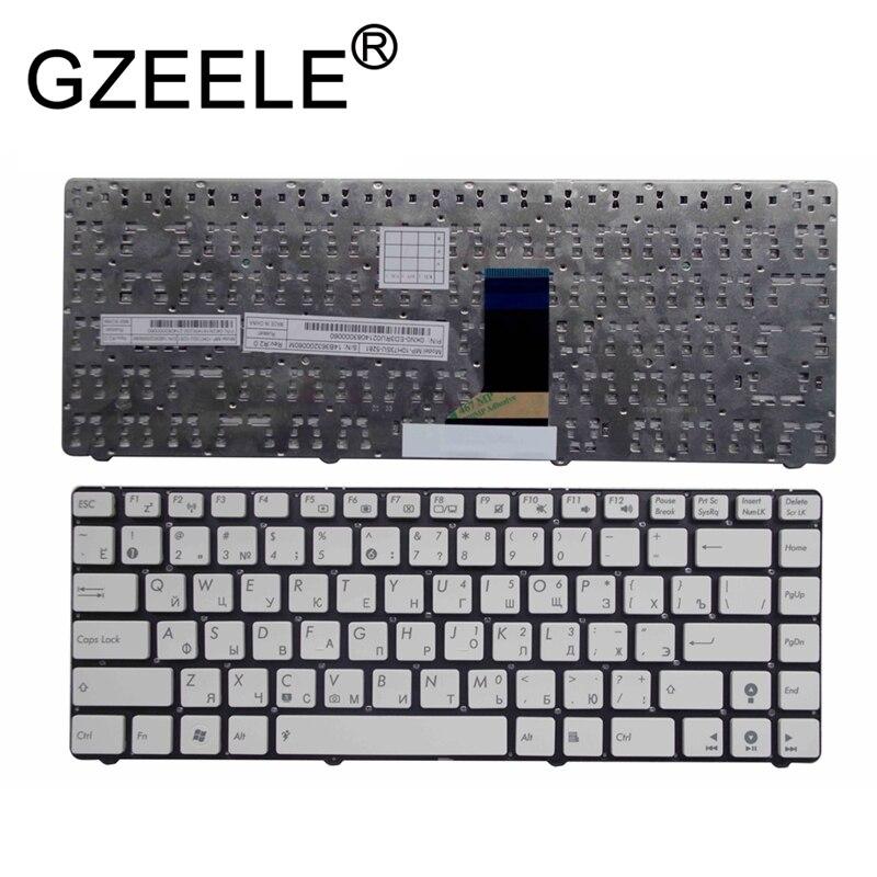 GZEELE NEW Russian Keyboard For U36 U36J U36JC U36S U36SD U36SG U36R U36KI U41J U41JF U41SV No Frame White Laptop Keyboard