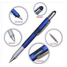 7 в 1 многофункциональная шариковая ручка с современным ручным инструментом, предназначенным для измерения технической линейки, отвертка, стилус с сенсорным экраном