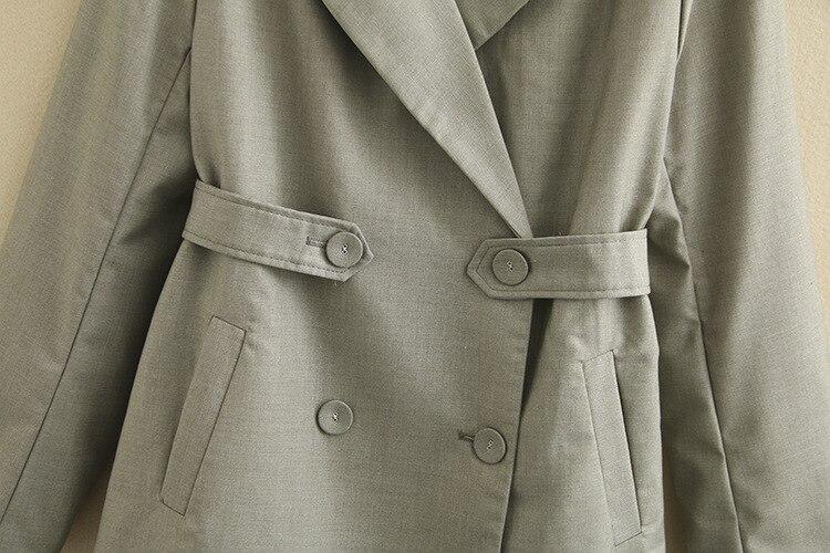 Casual Double Breasted Blazer Solid Coats Plus Size XXXL 4XL New Long Sleeve Suit Coat Jacket Women Blazers KKFY3617