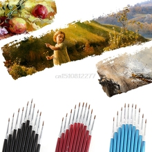 10Pcs Nylon Hair Brush Hook Line Pen Artist Watercolor Acrylic Painting Drawing J25 Dropshipping