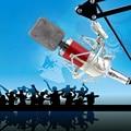 Однонаправленный Конденсаторный проводной Микрофон Шок Держатель Клип для Пения Караоке Портативных ПК Записи Игры