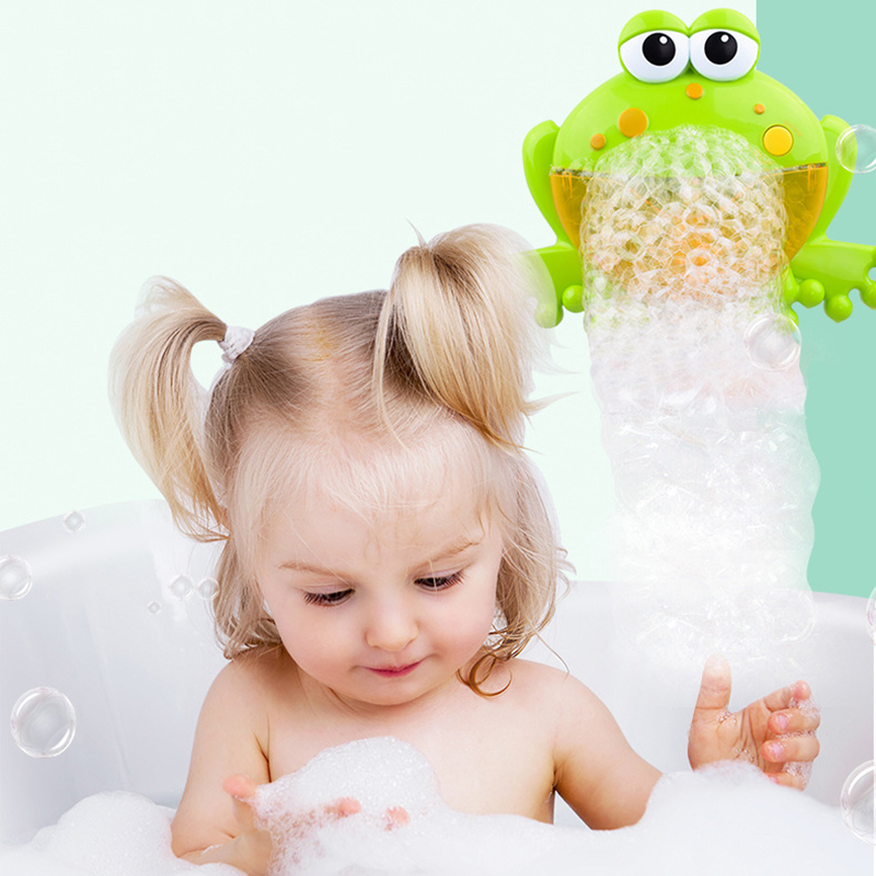 Funny Music Bubble Blower Machine Electric Automatic Crab Bubble Maker Kids baby