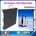 Aluguer P4 tela led de 512 mm * 512 mm 128 * 128 centímetros 1/16 de digitalização full color P4 led rgb painel P4 interior levou parede de vídeo