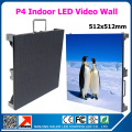 P4 rental led screen cabinet 512mm *512mm 128*128pixel 1/16 scan full color p4 rgb led panel for indoor p4 led video wall
