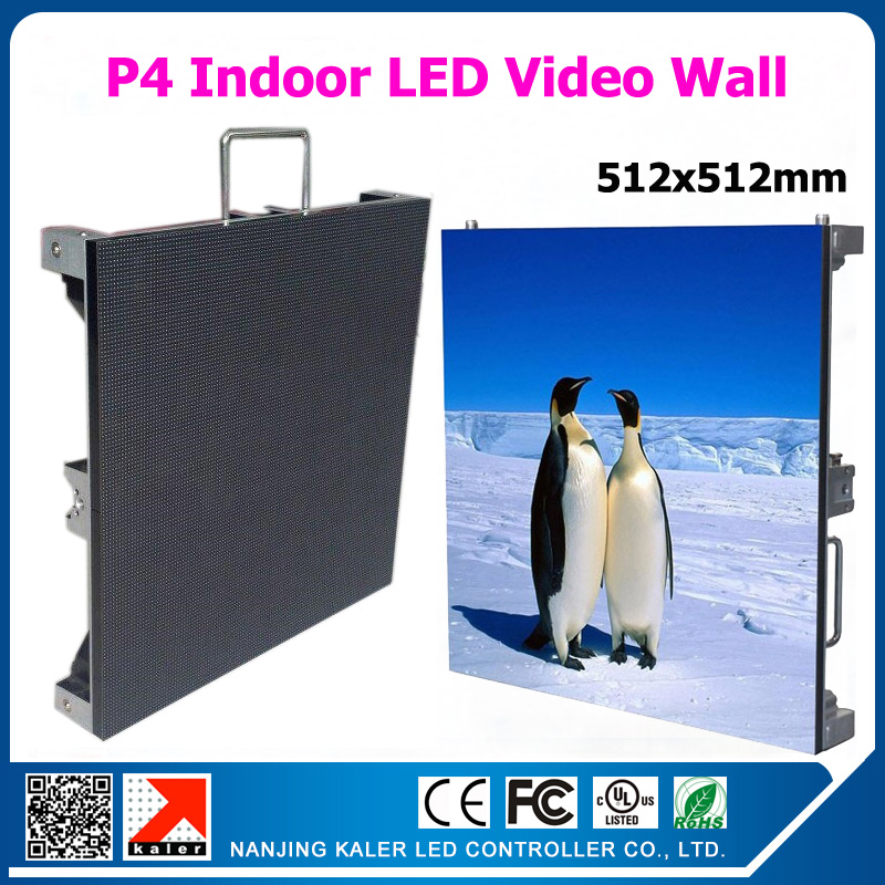 TEEHO P4 rental led screen cabinet 512mm *512mm 128*128pixel 1/16 scan full color p4 rgb led panel for indoor p4 led video wall