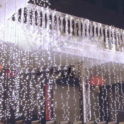 все цены на LED Curtain Icicle String Light 3m*3m 300LEDs Christmas Garland Indoor Drop LED Party Garden Stage Outdoor Decorative Light онлайн