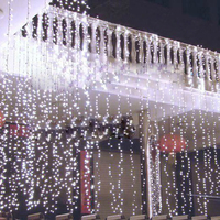 LED Curtain Icicle String Light 3m*3m 300LEDs Christmas Garland Indoor Drop LED Party Garden Stage Outdoor Decorative Light