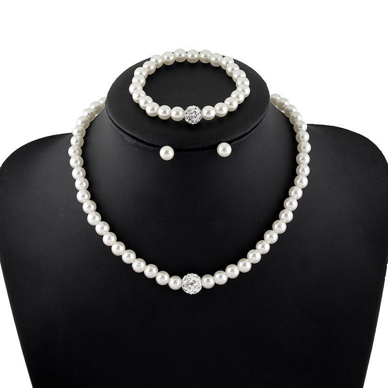 2018 Neue Koreanische Schmuck High-grade Nachahmung Perle Halskette Passenden Braut Schmuck Sets Parure Bijoux Femme Großhandel