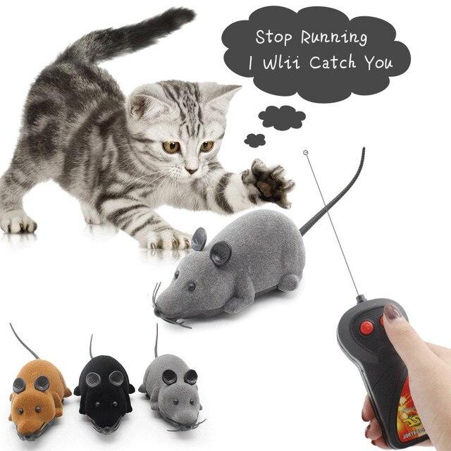 Pet Gatto Giocattolo regali di Telecomando Giocattolo Del Mouse Senza Fili di Si