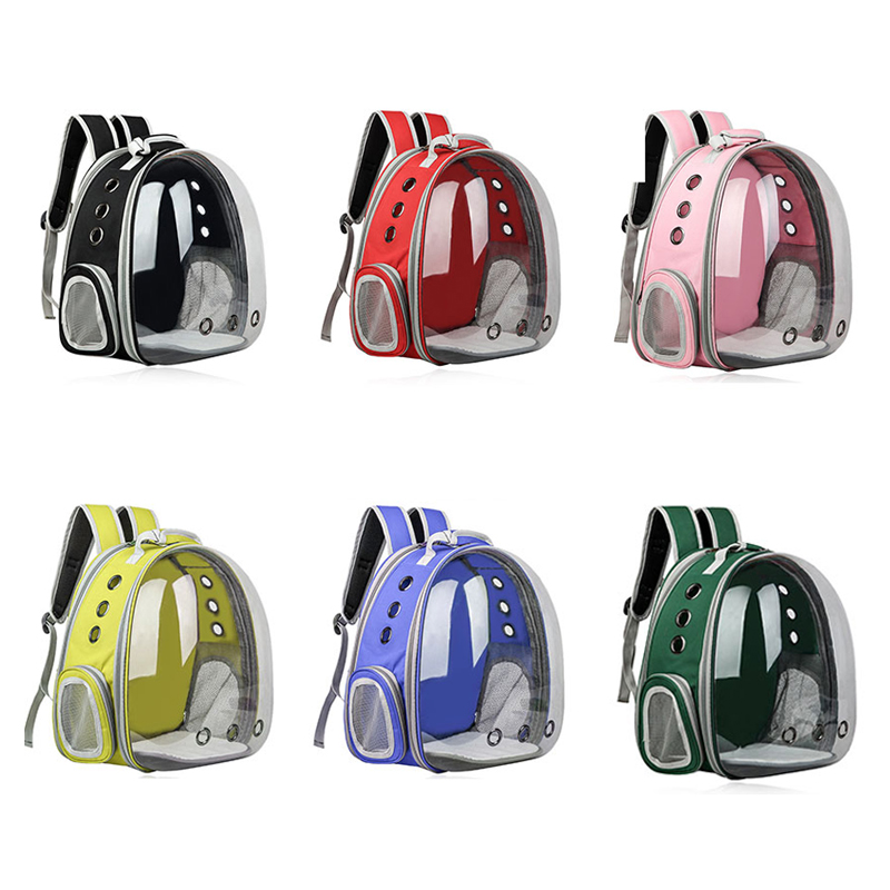 Petshy Transparent Space Capsule Pet Cat Backpack Window Small Dog Carrying Cage Outdoor Traveler Puppy Kitten Pet Carrier Bag