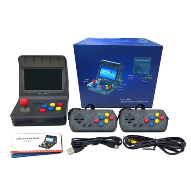 Retro Arcade Handheld konsole 4,3 Zoll 3000 Classic Game Player 2 PCS Joystick TV Ausgang Tragbare