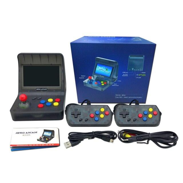 Retro Arcade przenośna konsola do gier 4.3 Cal 3000 klasyczny odtwarzacz gier 2 szt dżojstika telewizor z dostępem do kanałów wyjście przenośny