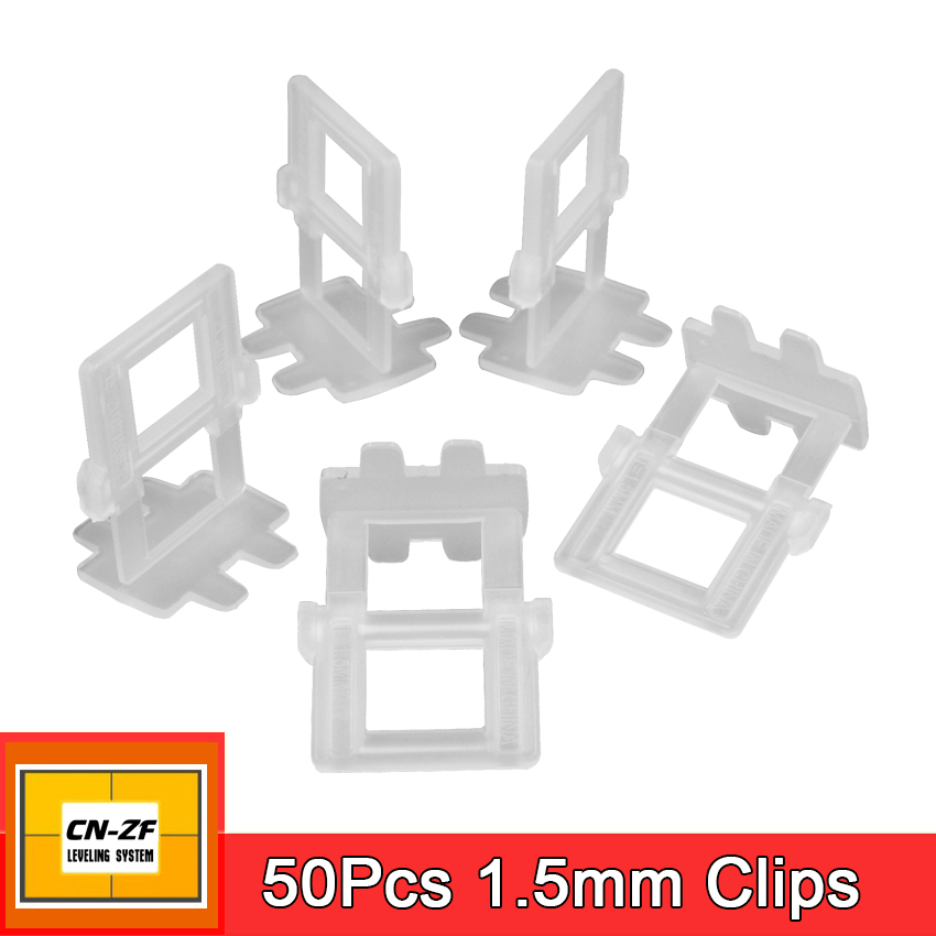 Plastic Accessories Leveler Gap 50 1.5mm Clips Clamps Flat Level Tools Spacers Wall Floor Ceramic Tile Leveling System For Tiles flat stanley goes camping level 2