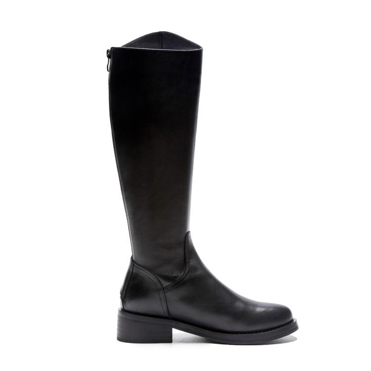 Confortable Fermeture Et Mode Chaud Carré Chaussures Dos 34 La Noir De Européenne Bottes 40 À Nouvelle Américaine Hiver Talon Glissière SUwqBw6