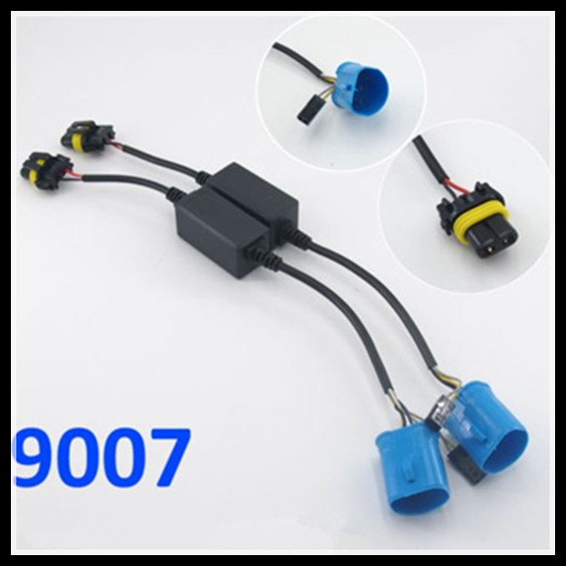 2PCS 9007 HB5 hid relay harness hid xenon kit 9007 H/L 9007 bixenon wiring harness hi lo controller wire cable harness