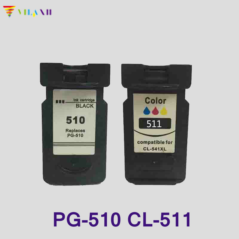 Vilaxh 2pcs PG-510 CL-511 Ink Cartridge for Canon PG510 cl511 Pixma MP250 mp270 MP280 MP480 MP490 IP2700 MP240 MP260 Cartridge image