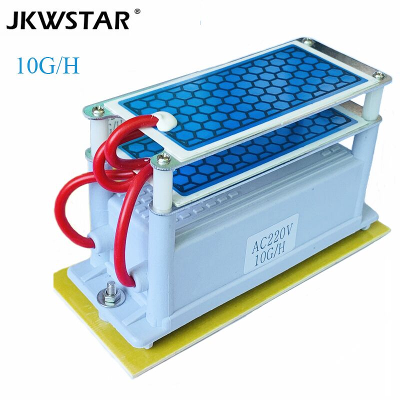 10g Portable Air Purifier Ceramic Ozone Generator Double Integrated Long Life Ceramic Plate Ozonator Air Water Cleaner