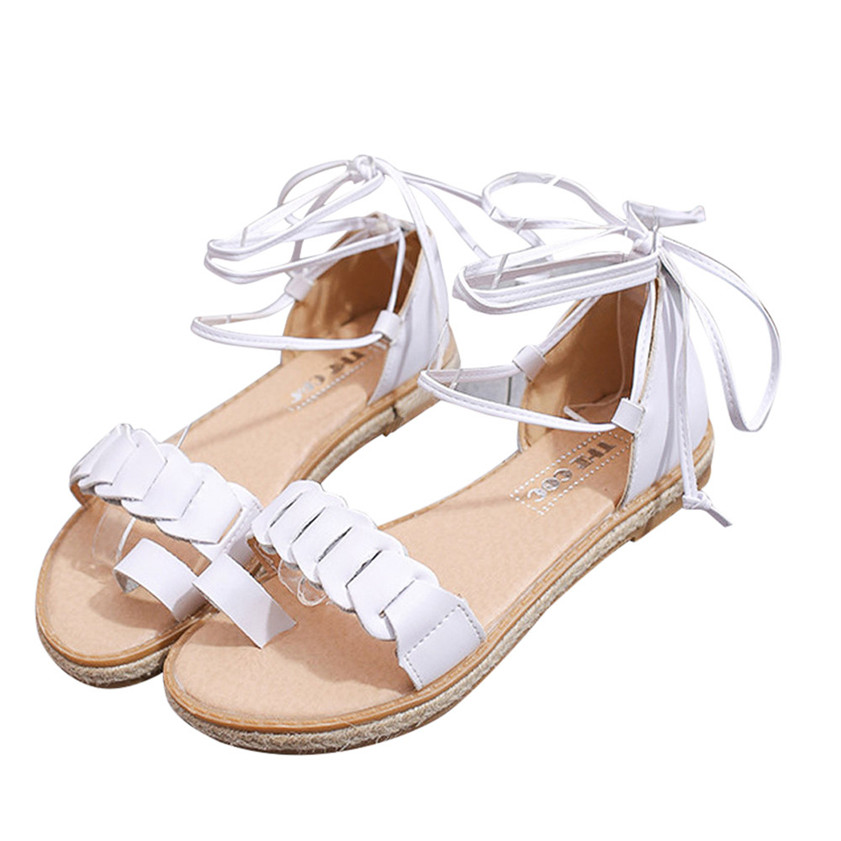 Hot Sale Women Sandals New Hot Fashion Summer Office Low Heel Casual Lace-Up Shoes #0527 size 30 43 woman ankle strap high heel sandals new arrival hot sale fashion office summer women casual women shoes p19266