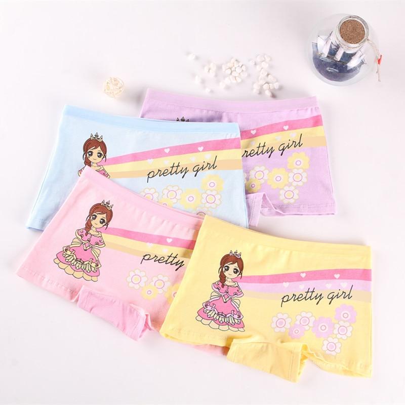 4pcs/lot Girls Underwear New Children's Clothing Cotton Children Panties For Girl Lovely Cartoon Kids Briefs Boxer Baby Clothe